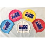 AUSTRALIA FLAG Premium 55 gram Silicon swimming Cap (price includes postage)