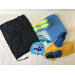 Full Training Bundle includes Kickboard, Pool Buoy, Mesh Storage Bag, Elite Goggles, Silicon Cap, Swim Fins