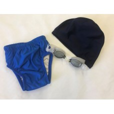 Infant Toddlers Learn to swim Bundle Environmentally Friendly reusable  Lycra Cap, Junior Goggles and Swim Nappy